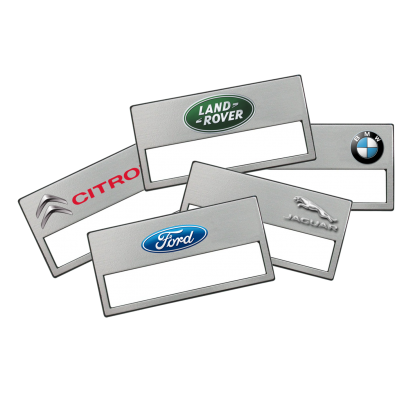 Placas de identificación personalizadas