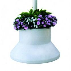 Maceta para flores de la carpa protección