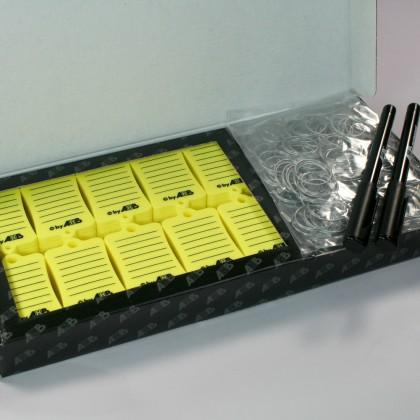 Caja 300 llaveros PVC