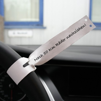 Etiquetas para volante