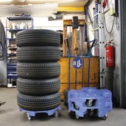Carro / expositor de neumáticos