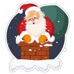 Papa Noel chimenea