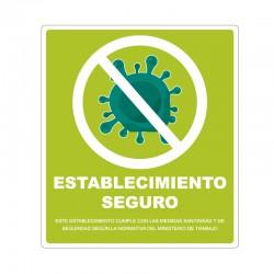 Adhesivos establecimiento seguro