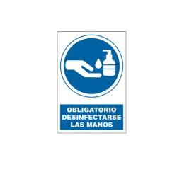 Cartel desinfección de manos