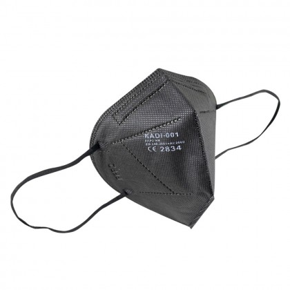 Mascarilla de protección FFP2, negra