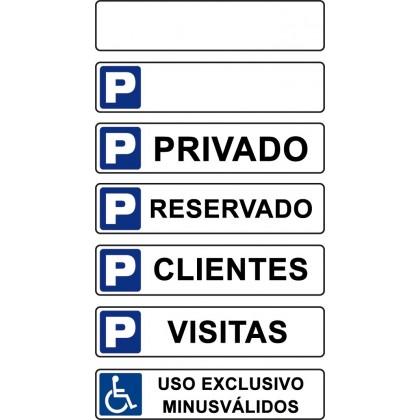 Señales para parking