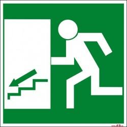 Salida escaleras abajo izquierda