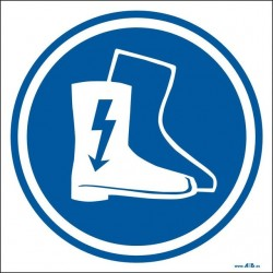 Uso obligatorio de botas dieléctricas