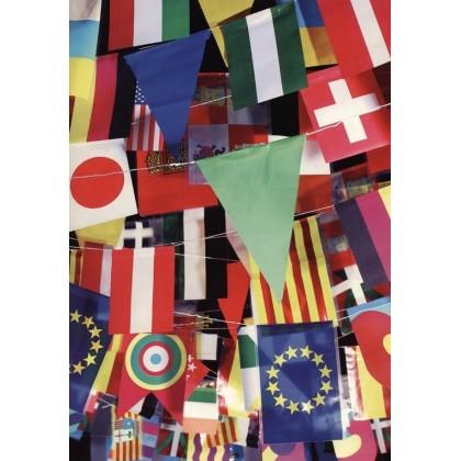 Cadena banderas plástico