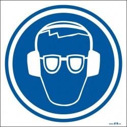 Uso obligatorio de protectores auditívos y gafas